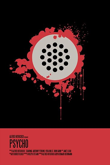 Minimalist Movie Poster: Psycho Poster by earlofportland