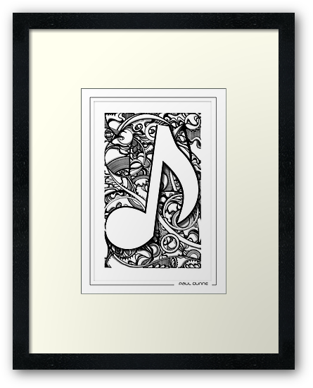 quaver 2 musical note by Paul  Dunne