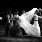 Bride walking to the Church by Matt Sillence