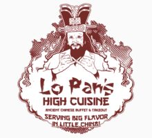 Lo Pan's High Cuisine Sticker - RED by Andy Hunt