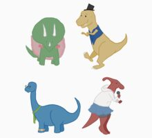 Four Awesome Dinosaurs by morphicmagic