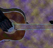 Abstract Digital Guitar Mosaic by kreativekate