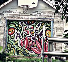 Garage Door Graffiti by Sasquatch89