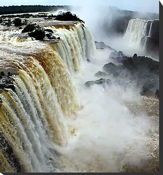 Devil's Throat at Iguassu Falls, Brazil & Argentina.  by Carole-Anne