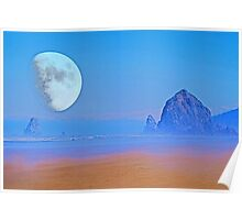 Cannon Beach Moon Poster