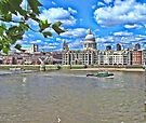 St Pauls Cathedral across the Thames by Audrey Clarke