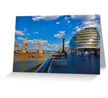 Tower Bridge and City Hall Greeting Card