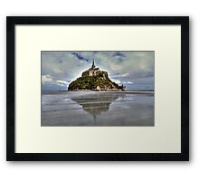 Mont Saint Michel Viewed by the Bay   Framed Print