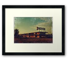We Met at the Old Motel Framed Print