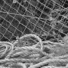 Fishing net and rope by Shelley Reynolds