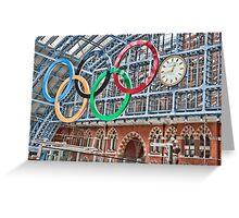 The Clock, St Pancras Station, London Greeting Card