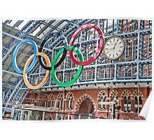 The Clock, St Pancras Station, London Poster
