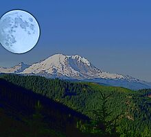 Moon Over Rainier by Tori Snow