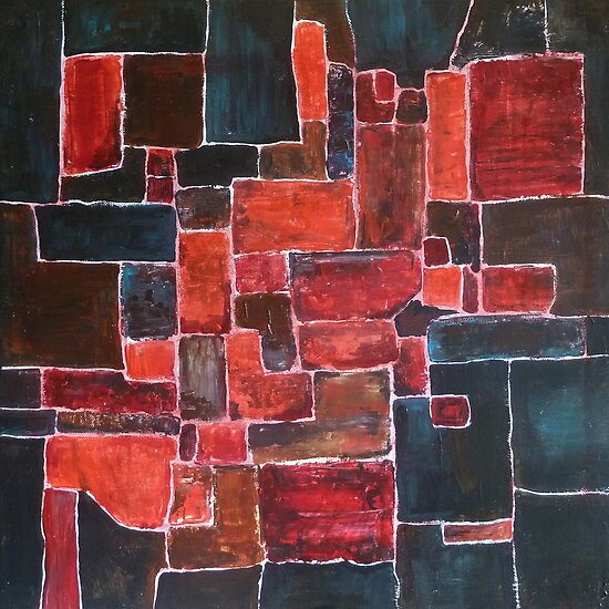 Square red by Sanne Thijs