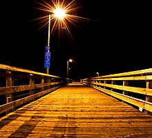 Fishing Dock at Night, Ruston Way  by DiamondCactus