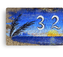 Curbside in California, Blue Canvas Print