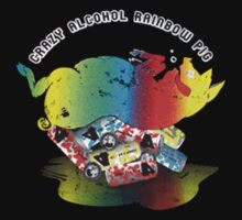 Crazy Alcohol Rainbow Pig by mactosh