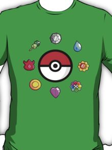 Pokemon Badges, first Generation T-Shirt