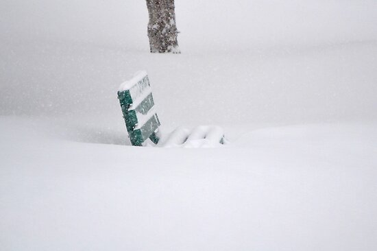 The snow covered bench by anchorsofhope
