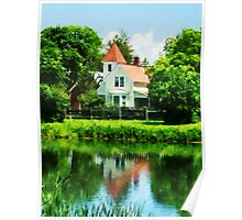 Suburban House with Reflection Poster