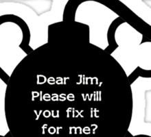 Dear Jim Sticker