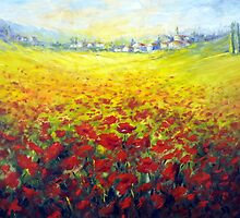 Tuscan field by Ivana Pinaffo