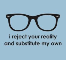 i reject your reality and substitute my own - Blue and Black Line by lovecrafted