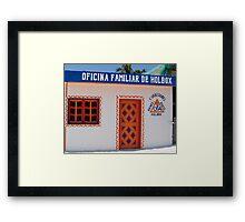 """Oficina Familar""  Holbox Island Framed Print"