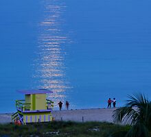 Reflecting Full Moon Gazers by Rene  Triay