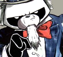 Pissed OFF Panda Uncle Sam Sticker