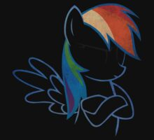 RainbowDash: Not amused Outline T-Shirt