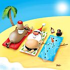 Santa Sunbatheing by Stiktoonz
