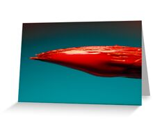 Red Paint Greeting Card