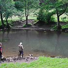 Fly Fishing at Upperdale by Rod Johnson