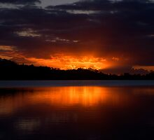 Embers of Day - Narrabeen Lakes, Sydney - The HDR Experience by Philip Johnson
