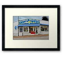 Waiheke Fruit and Veg Framed Print