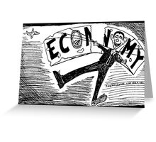 Obama Economy Parachute in Tatters Greeting Card