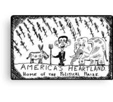 America's Heartland of the Political Maize Canvas Print