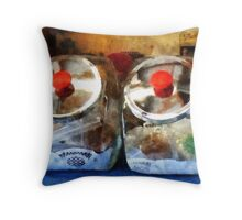 Two Glass Cookie Jars Throw Pillow