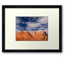 The Coyote Butte Pyramids Framed Print