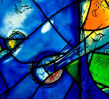 Chagall windows detail by Thad Zajdowicz