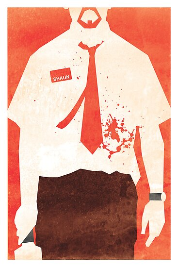 Minimalist Movie Poster: You've Got Red On You by Manuel Peters