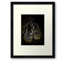 Boots that Grunt Framed Print