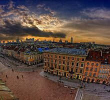Warsaw - Sunset Over The City by Pawel Tomaszewicz