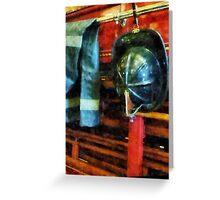 Fireman's Helmet and Jacket Greeting Card