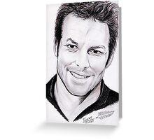 Richie McCaw portrait Greeting Card