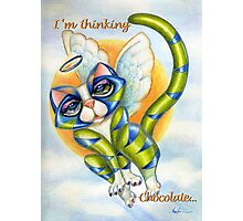 Heavens I'm Thinking Chocolate, Greeting Card Photographic Print