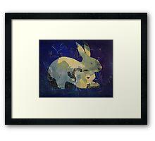 Printmaking: Rabbit Framed Print