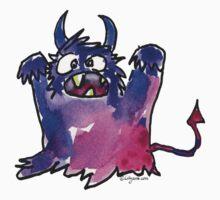Funny Cartoon Monstar 002 by Lillyarts