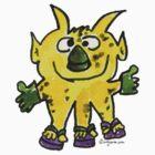 Funny Cartoon Monstar 003 by Lillyarts